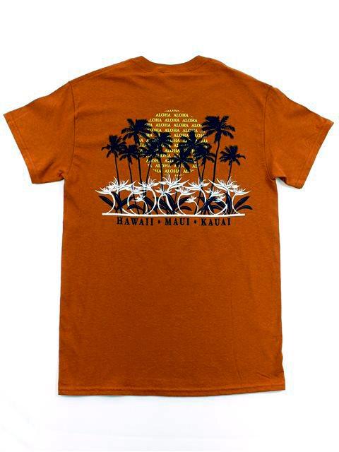 d571e3ca0 Aloha Sunset Texas Orange Cotton Men's Hawaiian T-Shirt | AlohaOutlet