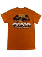 Aloha Sunset Texas Orange Cotton Men's Hawaiian T-Shirt
