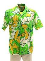 [Exclusive] Anuenue Big Protea Apple Poly Cotton Men's Hawaiian Shirt