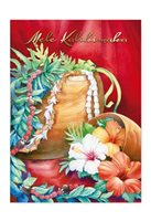 Island Heritage Koa Lei Holiday Deluxe Boxed Christmas Card 12Piece set