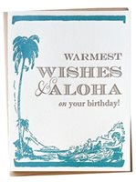 Bradley & Lily Warmest Wishes & ALOHA Birthday Card 1Piece