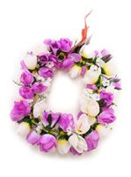 Purple White Kapiolani Headband (Haku Lei)