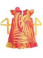 [Exclusive] Anuenue Ginger Yellow & Pink Girls Hawaiian Dress