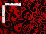 Whorl Tiare Red Black Poly Cotton LW-15-447
