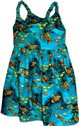Pacific Legend Honu Turquoise Cotton Toddlers Hawaiian Bungee Dress