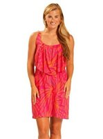 Escapada MIAMI Pink & Violet  Rayon Sleeveless Short Whitney Dress