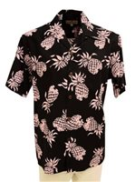Pineapple Juice Pineapple Black Rayon Men's Hawaiian Shirt
