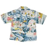 Avanti Land of Aloha Blue Silk Boys Hawaiian Shirt