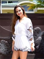 Angels by the Sea White Kilia Short Dress