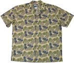 Waimea Casuals Pineapple Beige Cotton Men's Hawaiian Shirt