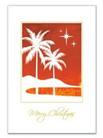 Island Heritage SILHOUETTE PALM Supreme Boxed Christmas Card 12Pieces set