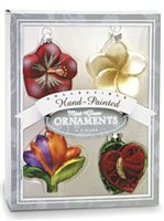 Island Heritage Holiday Flowers  Mini Collectible Ornament Set