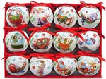 Island Heritage Hawaiian Stlye Christmas Glossy  Island Ornament 12Pieces set