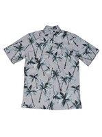 Avanti Electric Palms Gray Cotton Men's Hawaiian Shirt