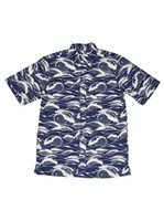 Avanti Ehukai Navy Cotton Men's Hawaiian Shirt