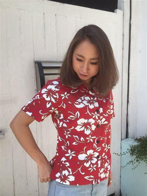 Hilo Hattie Classic Hibiscus Pareo Red Cotton Women's Hawaiian Shirt