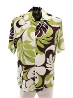 Hilo Hattie Maunakea Coffee Rayon Men's Hawaiian Shirt