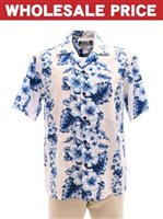 [Wholesale] Two Palms Pacific Panel White Cotton Men's Hawaiian Shirt