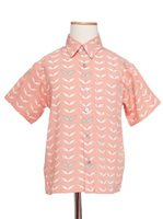 Angels by the Sea Angel's Wing Coral Rayon Boys Hawaiian Shirt