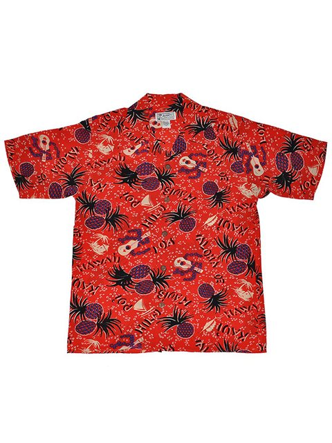 7feef3d0 Avanti Aloha 'Oe Red Silk Men's Hawaiian Shirt | AlohaOutlet