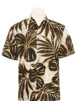 Hilo Hattie Hibiscus Mix Black Cotton Men's Hawaiian Shirt