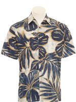 Hilo Hattie Hibiscus Mix Navy Cotton Men's Hawaiian Shirt