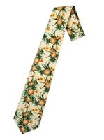 Hilo Hattie Pineapple Cream Hawaiian Necktie