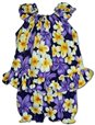 Pacific Legend Hibiscus Plumeria Purple Cotton Infant Girls Hawaiian Cabana Set