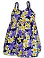 Pacific Legend Hibiscus Plumeria Purple Cotton Toddlers Hawaiian Bungee Dress