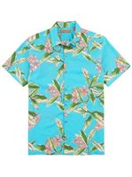 Tori Richard Lei Maker Wave Cotton Men's Hawaiian Shirt