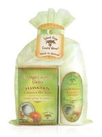Island Soap & Candle Works Organza Gift Bag [Mango Coconut Guava/2 oz. soap & 2 oz. lotion]