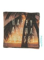 Angels by the Sea Happy Aloha Sunset Coaster