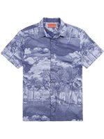 Tori Richard La Vista Lapis Cotton Men's Hawaiian Shirt