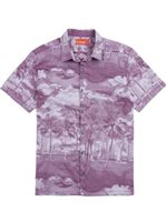 Tori Richard La Vista Wine Cotton Men's Hawaiian Shirt