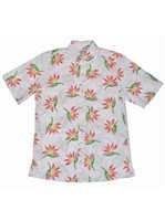 Avanti Paradise Polka White Cotton Men's Hawaiian Shirt