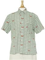 Angels by the Sea Angel's Wing Gray Rayon Men's Hawaiian Shirt