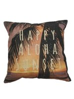 Angels by the Sea Happy Aloha Sunset Pillow Cover