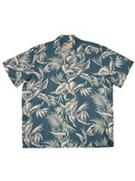 Paradise Found Tropical Paradise Blue Rayon Men's Hawaiian Shirt