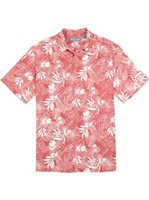 Tori Richard Hi-Bloom - Relaxed Fit Red (Guava) Silk Cotton Men's Hawaiian Shirt