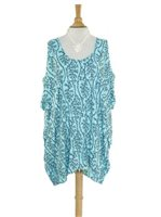 Lani Lau Sea Coral Blue Smart Dress