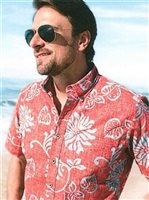 Reyn Spooner Nane'a Coral Cotton Polyester Men's Hawaiian Shirt Classic Fit