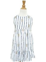 Angels by the Sea Pineapple White Girls Dress