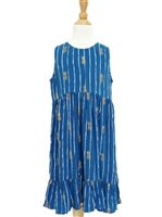 Angels by the Sea Pineapple Navy Girls Dress