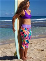 [Limited Supply Only] Mahiku Activewear Rain Yoga Capri Leggings