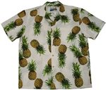 Waimea Casuals Maui Pineapple White Cotton Men's Hawaiian Shirt