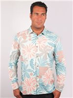 Te Aito Tu 1 Sky Blue Cotton Men's Hawaiian Shirt