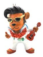 KC Hawaii Elvis Bear Island Style Ornament