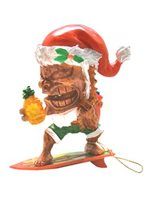 KC Hawaii Surfing Tiki Clause Island Style Ornament