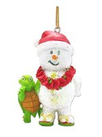 KC Hawaii Snowman & Honu Island Style Ornament