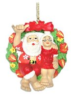 KC Hawaii Mr. & Mrs. Clause Island Style Ornament